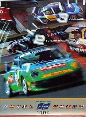 Porsche Original Rennplakat 1995 - Supercup - Gut Erhalten