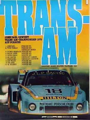 Porsche Original Rennplakat 1979 - Trans-am - Gut Erhalten