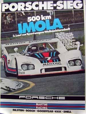 Porsche Original Rennplakat 1976 - 500km Imola - Gut Erhalten