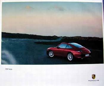 Porsche Original Werbeplakat - 911 Targa - Gut Erhalten