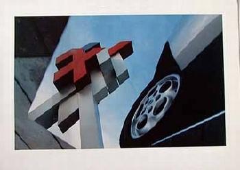 Porsche-originaldruck 1981 Heidelberg Universitätszeichen