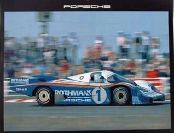 Porsche-originaldruck 1983 24 Stunden Lemans