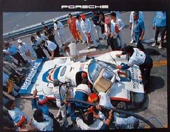 Othmans-porsche 956. 24 Hours Le Mans 1982 - Poster