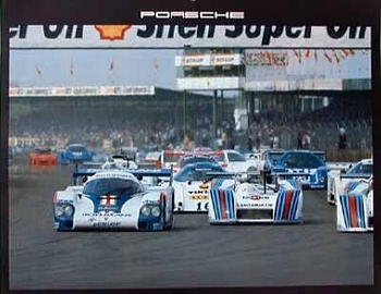 Rothmans-porsche 956. 6 Stunden Silverstone 1982 - Poster