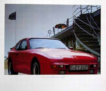 Porsche 924 Poster, 1984