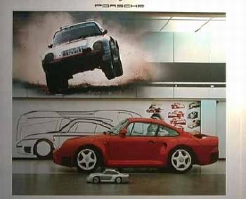 Porsche 959 Poster, 1987