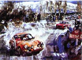 Porsche 911 Rallye Monte Carlo 1970 - Poster