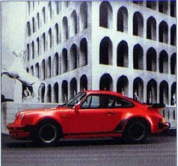 Porsche 911 Turbo Coupé, Poster 1989