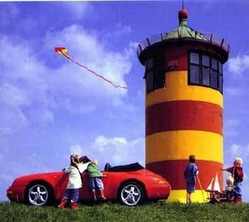 Porsche 911 Carrera Cabriolet Poster, 1995