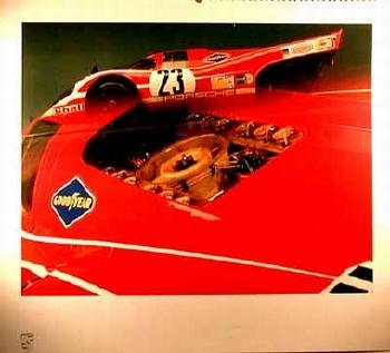 Porsche 917 Kurzheck Coupé 1970 Poster, 1985