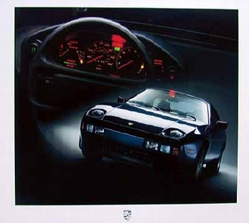 Porsche 928 Poster, 1986