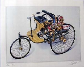 Benz 1886 Signed Artist Norbert