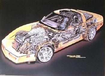 Us-import Corvette Zr1 Cutaway