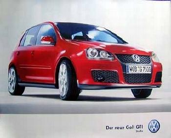 Vw Original Golf Gti Studie - Poster