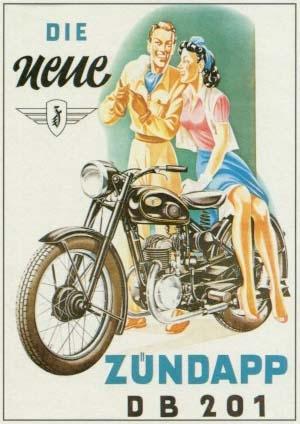Zündapp Db 201 Motorrad Zuendapp