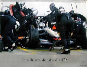 Mercedes-benz Original Rennplakat Team Mclaren