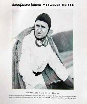 Metzeler Original 1949 Ernst Henne