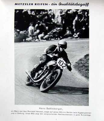 Metzeler Original 1949 Hans Baltisberger