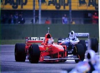 Michael Schumacher Jacques Villeneuve Imola
