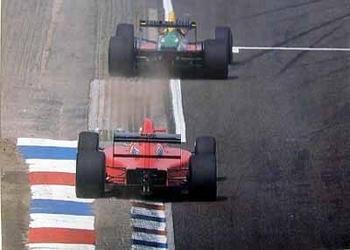 Nigel Mansel Ferrari In Pursuit