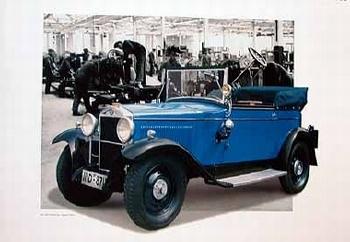 Nsu 7/34 Ps Cabriolet 1928 Poster