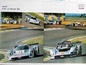 Original Audi Sport Poster Le Mans 1999