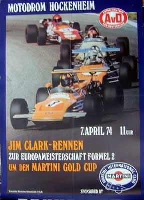 Original Avd Rennplakat 1974 Jim