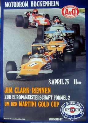 Original Avd Rennplakat 1973 Jim