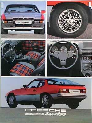 Original Porsche Werbeplakat 1979 - Porsche 924 Turbo - Gut Erhalten