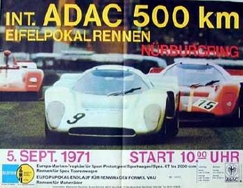 Original Rennplakat 1971 Int Adac