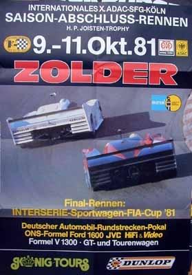 Original Rennplakat 1981 Adac Final-rennen