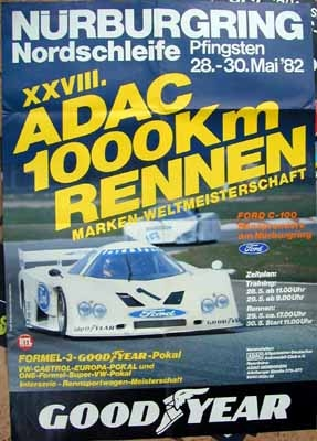 Original Rennplakat 1982 Xxviii Adac