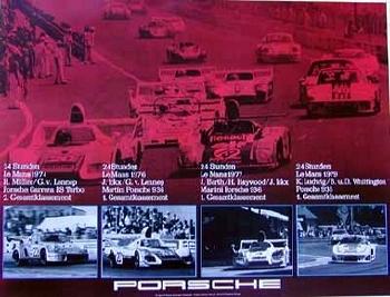 Lemans Siege ´74, ´76, ´77, ´79. - Porsche Reprint