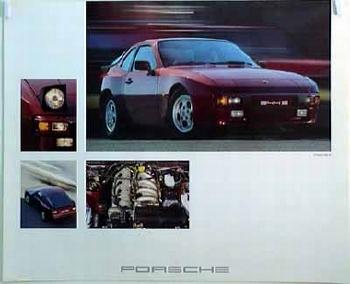 Porsche Original Werbeplakat 1981 - Porsche 944 S - Gut Erhalten