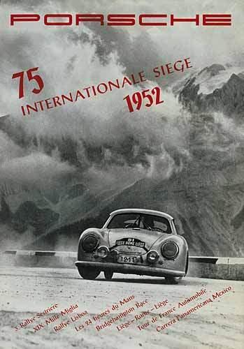 75 Internationale Sieg 1952 - Porsche Reprint