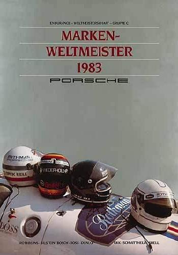 Brand World Champion 1983 - Porsche Reprint
