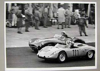 1000km Am Nürburgring 1962. Hans Hermann Im Werks Porsche 718 Wrs.