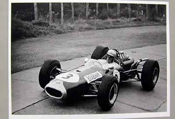 1000km At The Nurburgring 1966. Jack Brabham In His Brabham Repco.