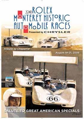 32nd Rolex Monterey Historic Automobile Races Poster, 2005