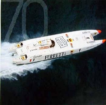 Team N. Ferretti / L. Ferrari Off-shore-boot. 70 Years Agip Poster, 1996