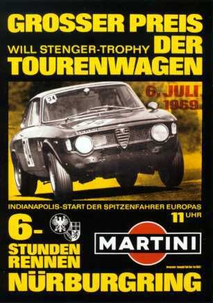 Alfa Romeo Nurburgring-rennen Race Poster Reprint