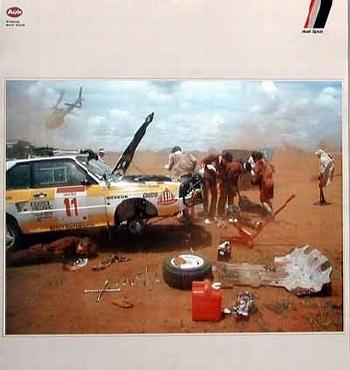 Audi-motorsport Quattro Poster, 1986