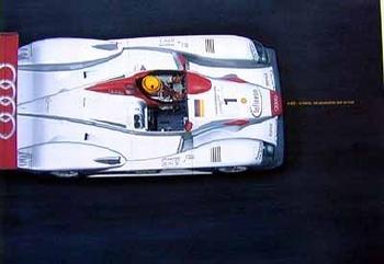 Audi R8 Poster -le Mans 2001