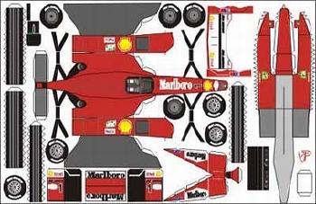 Construction Print Ferrari F1 2000