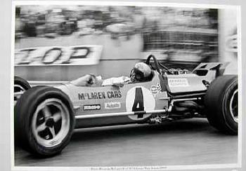 Großer Preis Von Monaco 1969. Bruce Mclaren Im Mclaren-ford M7a.
