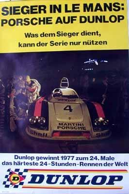 Porsche Original Rennplakat 1977 - Porsche 936 24 Stunden Le Mans - Leichte Gebrauchsspuren