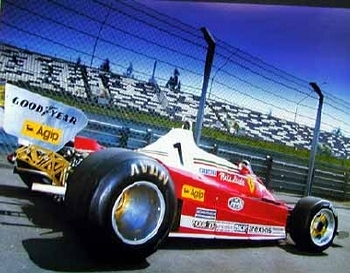 Ferrari 312 T2 Niki Lauda Poster