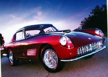 Ferrari 410 Sa 1959 Poster