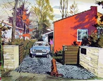 Ford Original 1963 Zeichnung Walter