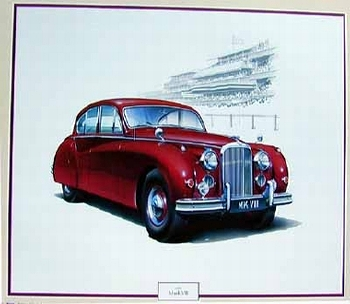 Jaguar Mark Vii 1953, Jaguar Original Poster 1986